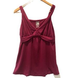 The North Face V-neck Tank Top Burgundy L